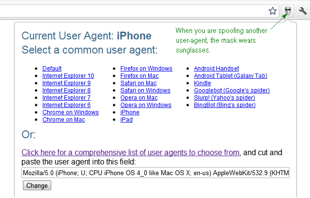 User-Agent Switcher