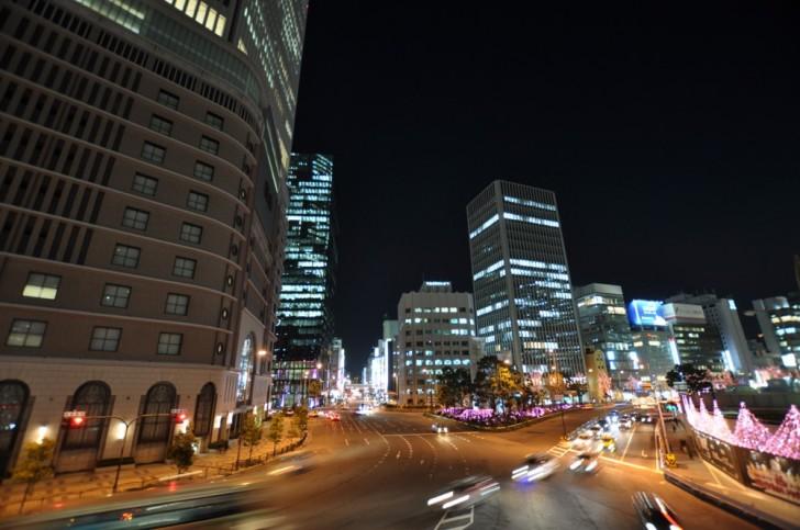 自動モードで撮影された夜景