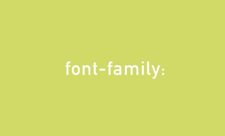 fontfamily